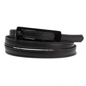 Black Halo Dress Waist Belt Leather Buckle